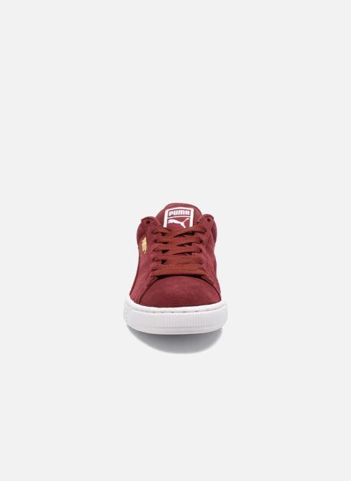 Sneakers Puma Suede Classic+ Bordò modello indossato