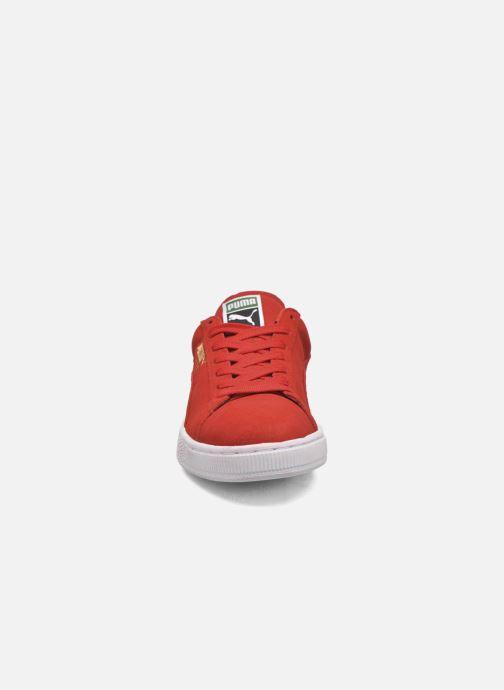 Baskets Puma Suede Classic+ Rouge vue portées chaussures