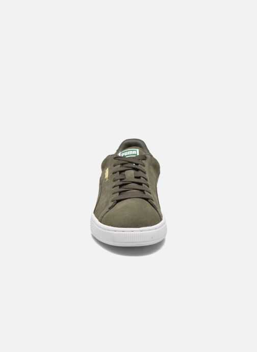 Sneaker Puma Suede Classic+ grün schuhe getragen