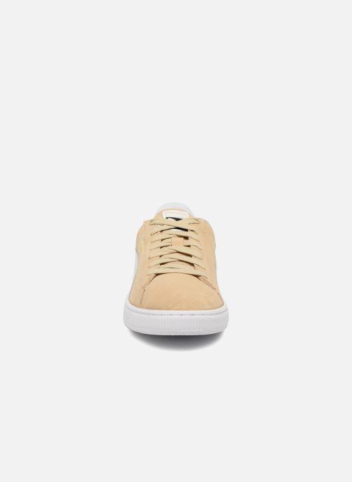 Sneaker Puma Suede Classic+ beige schuhe getragen