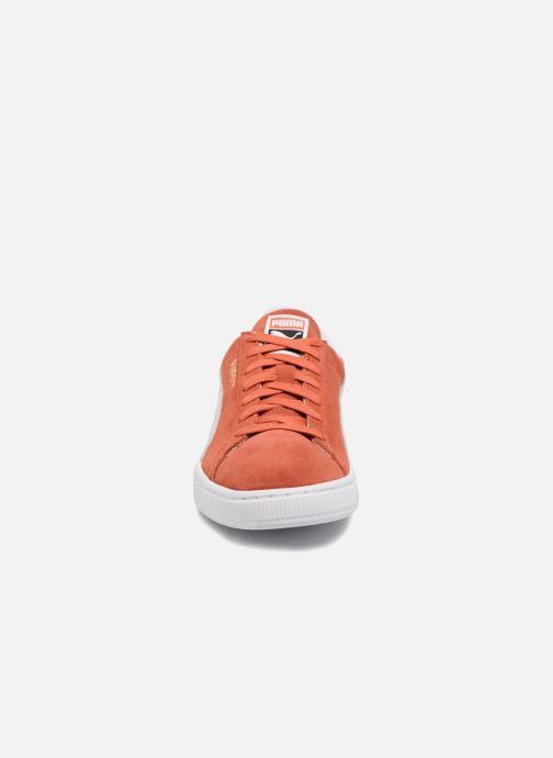 Baskets Puma Suede Classic+ Orange vue portées chaussures