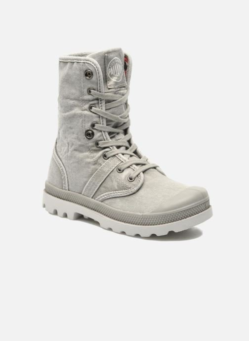 Ankle boots Palladium Baggy Kid Flag Grey 3/4 view