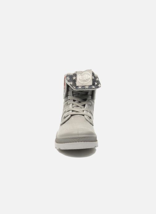 Ankle boots Palladium Baggy Kid Flag Grey model view