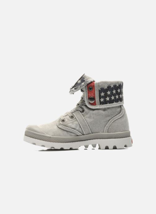 Ankle boots Palladium Baggy Kid Flag Grey front view