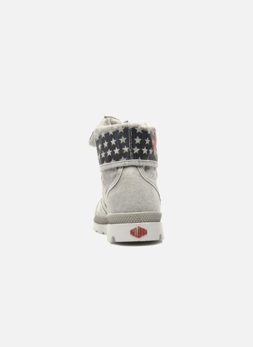 Ankle boots Palladium Baggy Kid Flag Grey view from the right