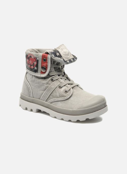 Ankle boots Palladium Baggy Kid Flag Grey detailed view/ Pair view