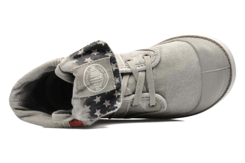 Bottines et boots Palladium Baggy Kid Flag Gris vue gauche