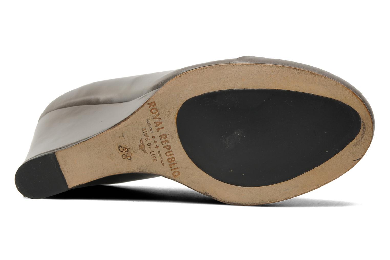 Chaussures à lacets Royal Republiq Neriya oxford shoe Gris vue haut