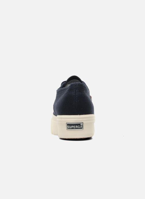 Sneaker Superga 2790 Cot Plato Linea W blau ansicht von rechts