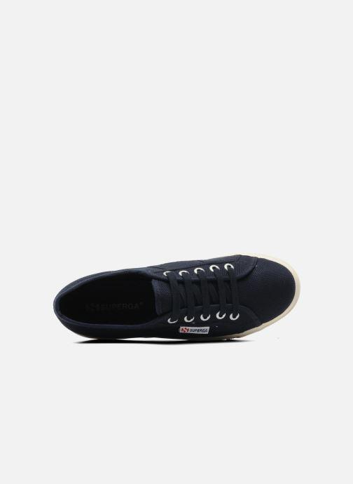 Sneaker Superga 2790 Cot Plato Linea W blau ansicht von links