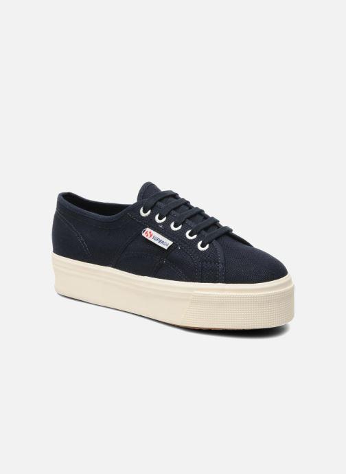 Sneakers Superga 2790 Cot Plato Linea W Blauw detail