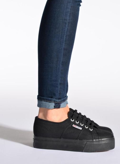 Trainers Superga 2790 Cot Plato Linea W White view from underneath / model view