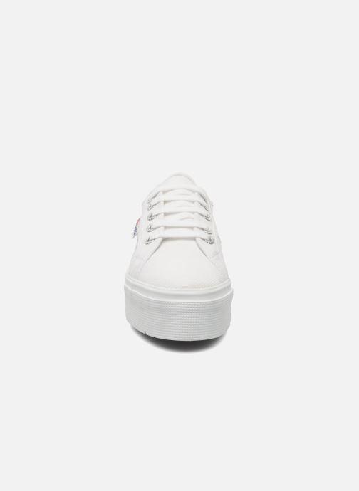 Sneakers Superga 2790 Cot Plato Linea W Bianco modello indossato