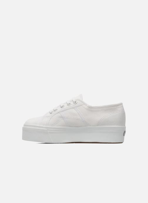 Sneakers Superga 2790 Cot Plato Linea W Wit voorkant
