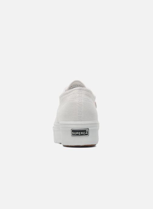 Sneakers Superga 2790 Cot Plato Linea W Wit rechts