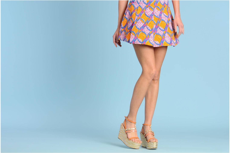 Sandales et nu-pieds Mellow Yellow Peach Rose vue bas / vue portée sac
