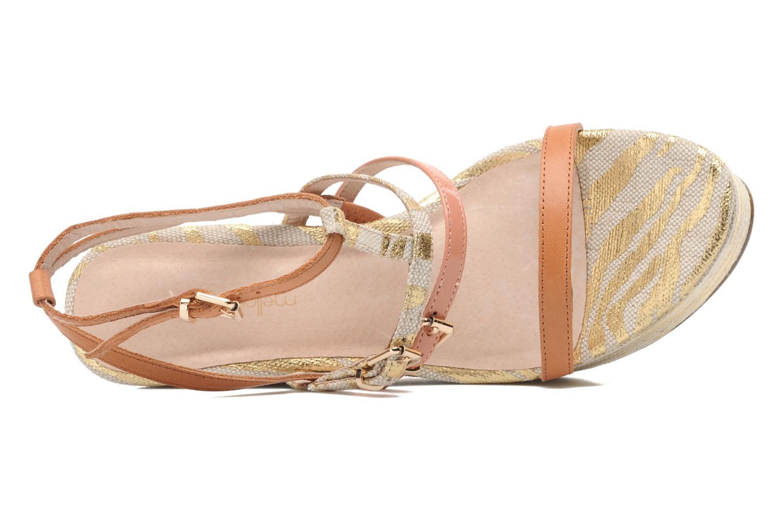 Sandales et nu-pieds Mellow Yellow Peach Rose vue gauche
