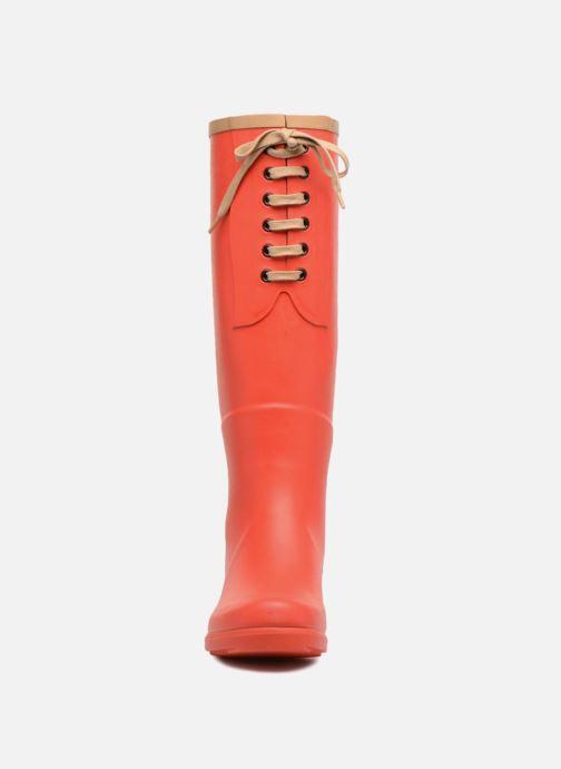 Bottes Aigle Miss Juliette L Rouge vue portées chaussures