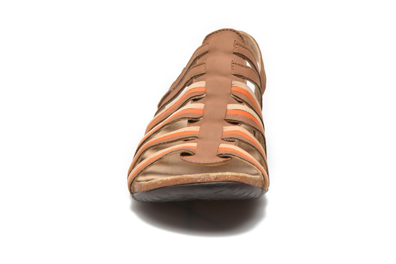 Sandales et nu-pieds TBS Bertie Marron vue portées chaussures
