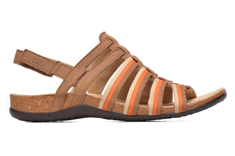 Sandales et nu-pieds TBS Bertie Marron vue derrière