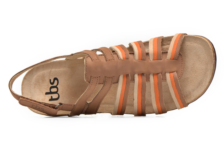 Sandales et nu-pieds TBS Bertie Marron vue gauche