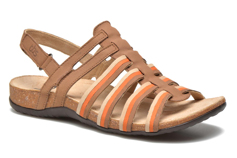 Sandales et nu-pieds TBS Bertie Marron vue détail/paire