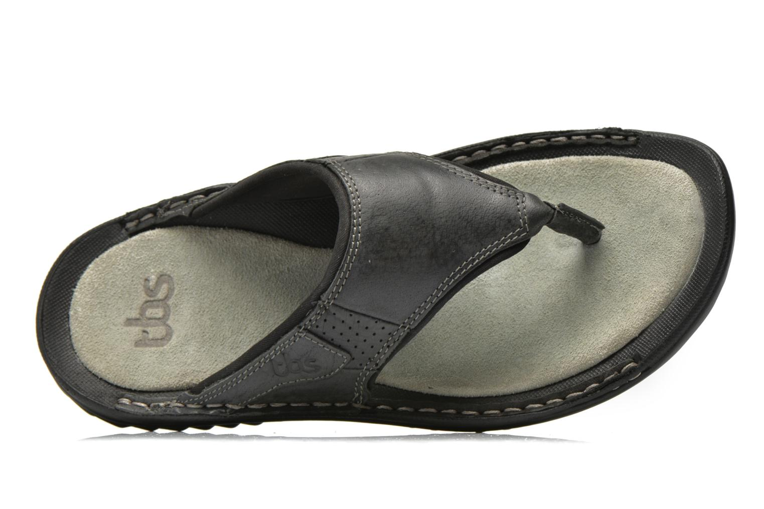Flip flops TBS Easy Walk Cartag Black view from the left