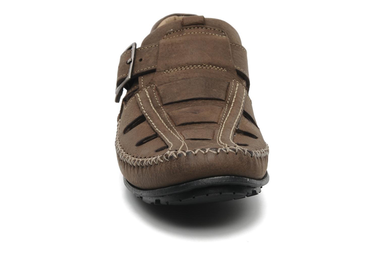 Mocassins TBS Easy Walk Seopol Marron vue portées chaussures