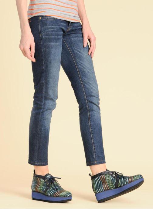 Chaussures à lacets Georgia Rose Pevek Marron vue bas / vue portée sac