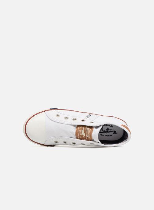Sneaker Mustang shoes Sorala weiß ansicht von links