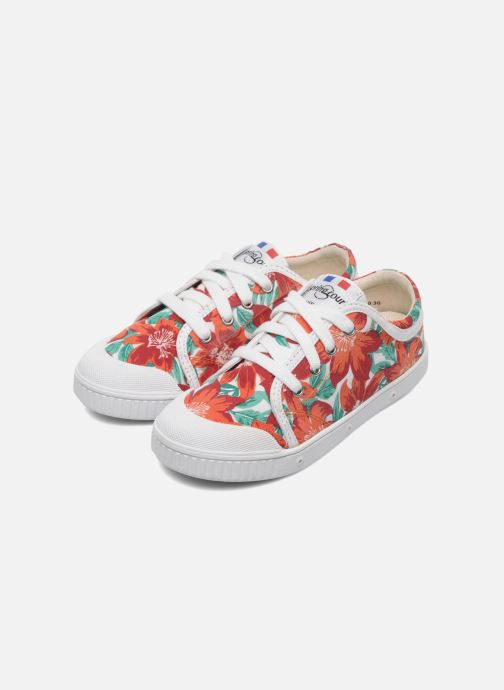 Sneakers Spring Court GE1L JUNGLE Orange 3/4 bild