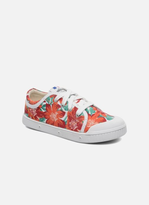 Trainers Spring Court GE1L JUNGLE Orange detailed view/ Pair view