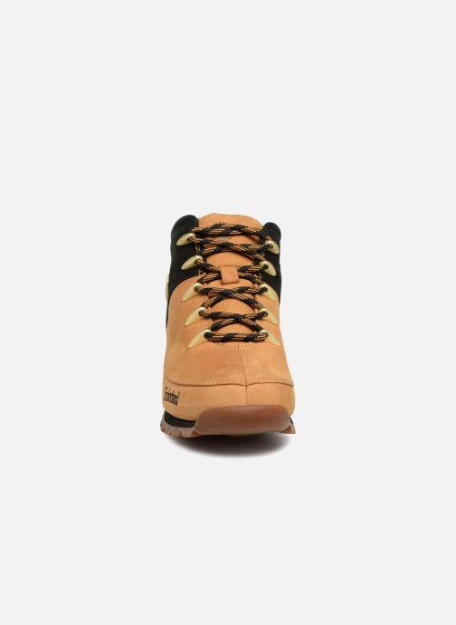 Schnürschuhe Timberland Euro Sprint Hiker braun schuhe getragen