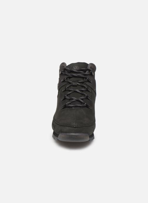 Schnürschuhe Timberland Euro Sprint Hiker schwarz schuhe getragen
