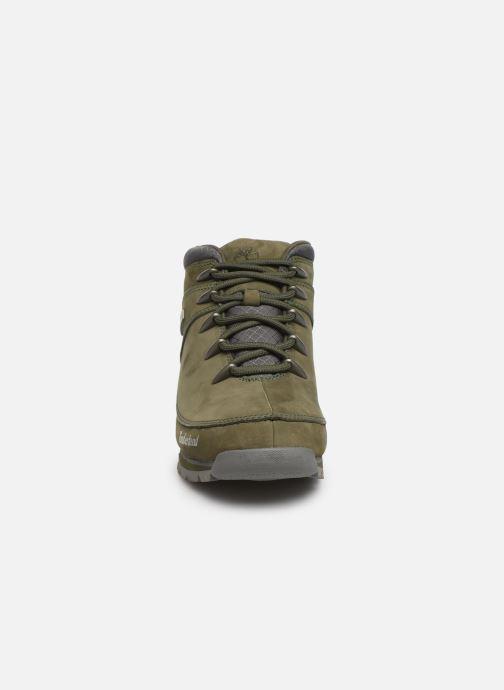 Chaussures à lacets Timberland Euro Sprint Hiker Vert vue portées chaussures