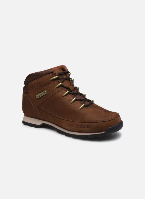 Lace-up shoes Timberland Euro Sprint Hiker Brown detailed view/ Pair view