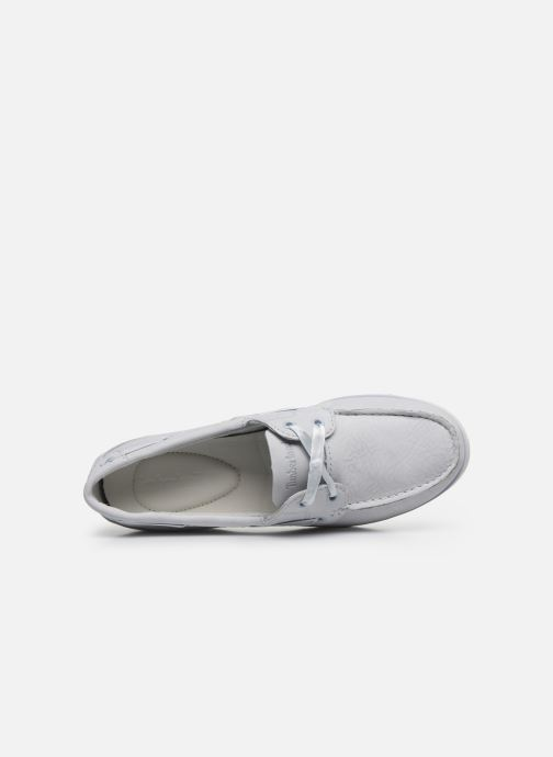 Lace-up shoes Timberland Classic Boat Unlined Boat Shoe Grey view from the left