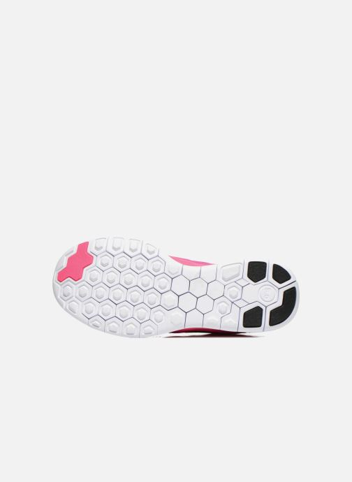 Trainers Nike NIKE FREE 5.0 (GS) Pink view from above