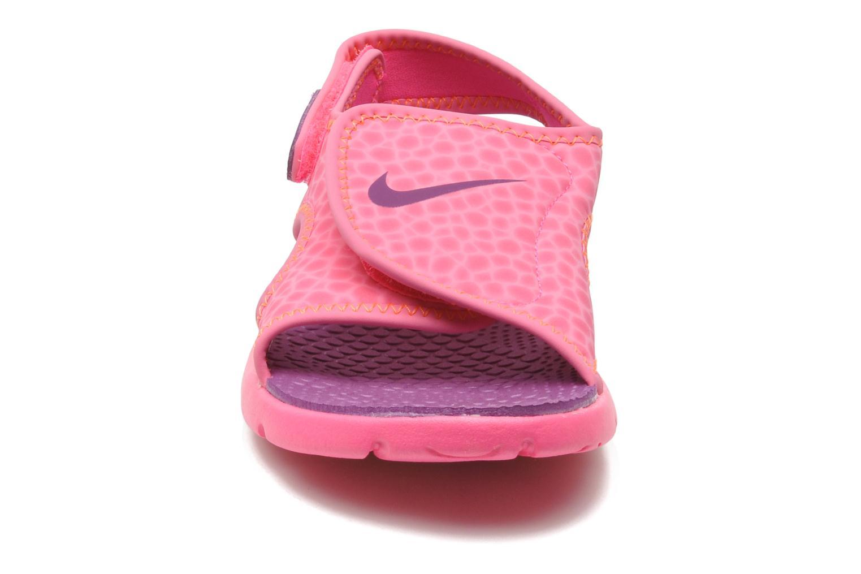 Sandalen Nike SUNRAY ADJUST 4 (GSPS) rosa schuhe getragen