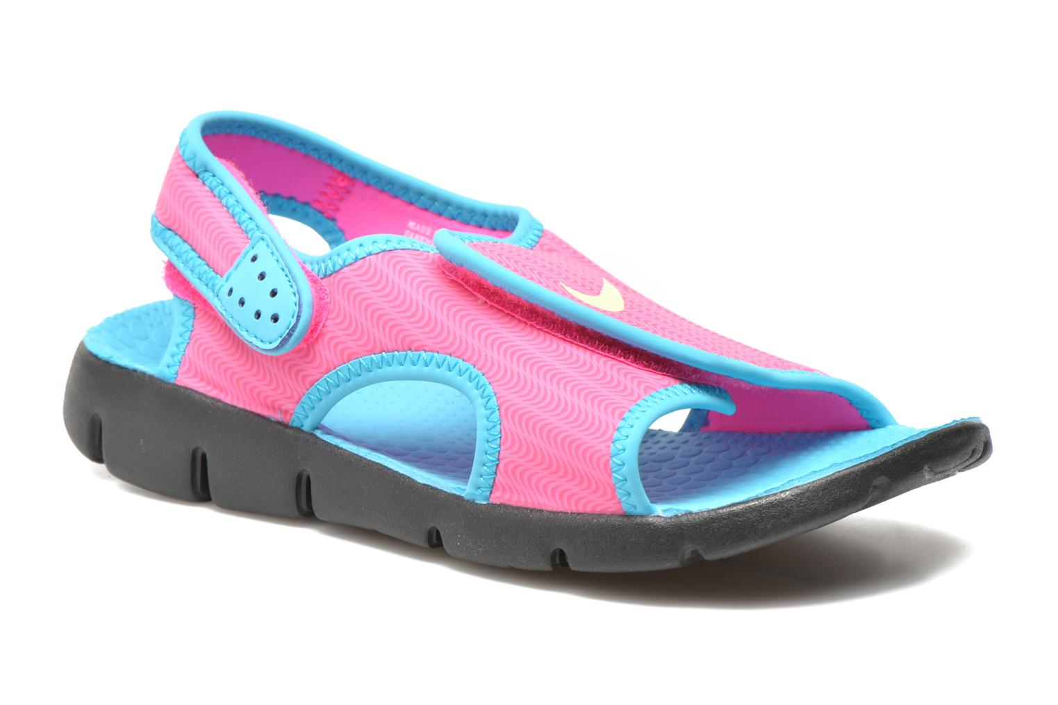 Sandals Nike SUNRAY ADJUST 4 (GSPS) Pink detailed view/ Pair view