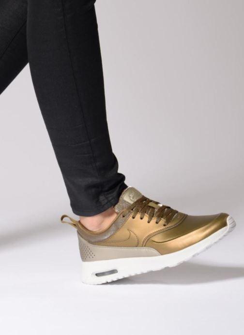 Sneaker Nike Wmns Nike Air Max Thea Prm schwarz ansicht von unten / tasche getragen