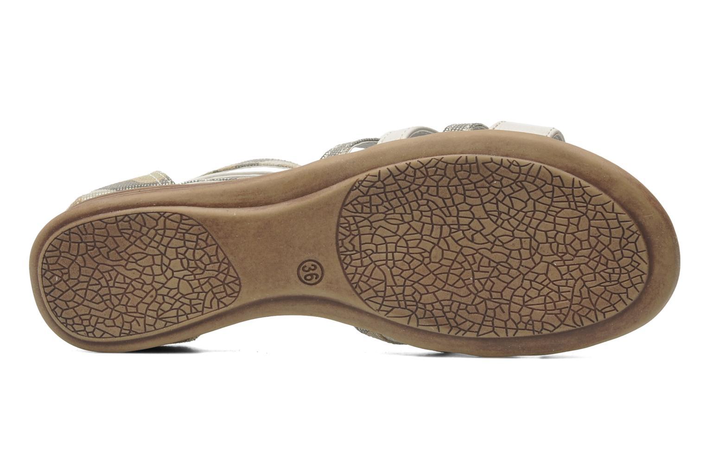 Sandales et nu-pieds I Love Shoes Adula Gris vue haut