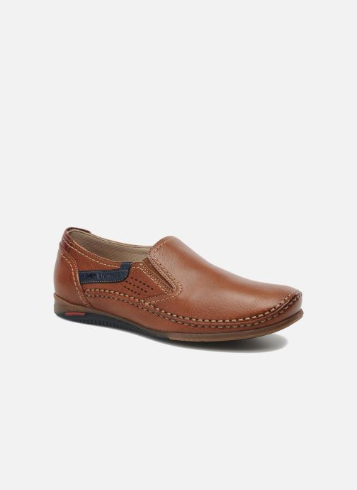 Loafers Fluchos Catamaran 8565 Brown detailed view/ Pair view