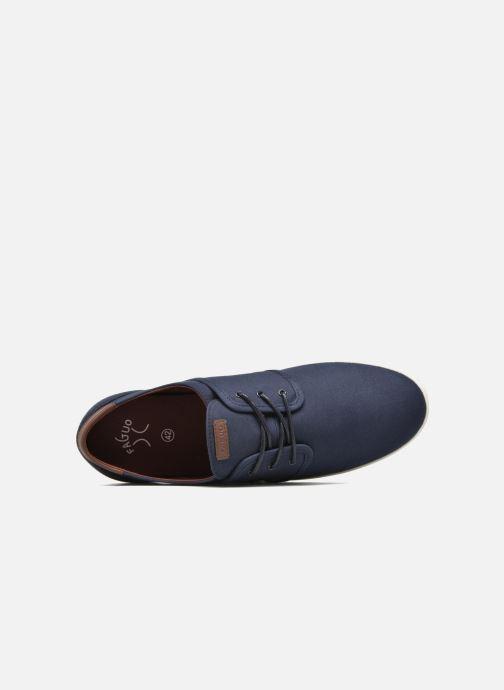 Sneakers Faguo Cypress Cotton Leather Azzurro immagine sinistra