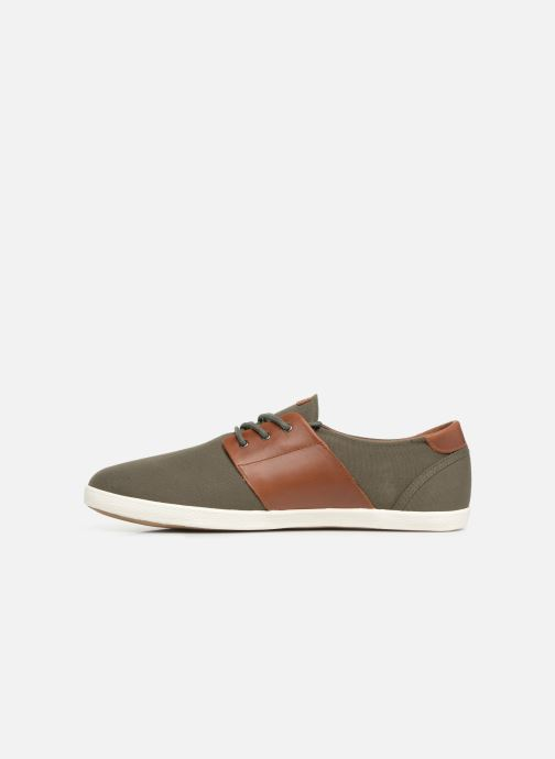 Trainers Faguo Cypress Cotton Leather Green front view