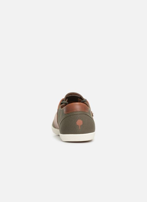 Trainers Faguo Cypress Cotton Leather Green view from the right
