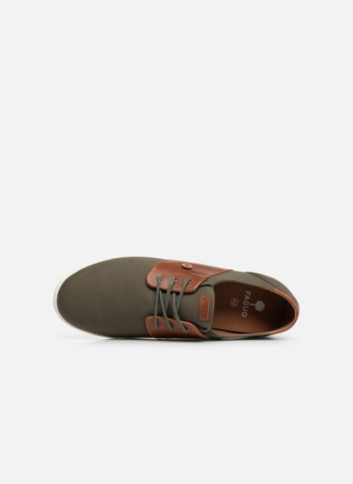 Trainers Faguo Cypress Cotton Leather Green view from the left