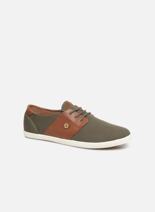 Trainers Faguo Cypress Cotton Leather Green detailed view/ Pair view