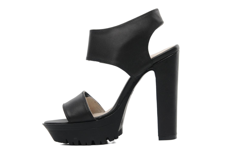 Sandales et nu-pieds Bronx Jen Noir vue face