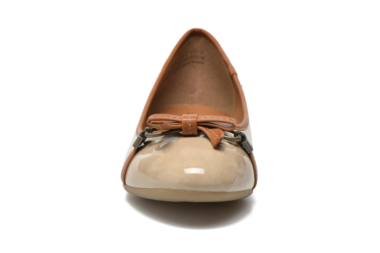 Ballerinas Marco Tozzi Macha beige schuhe getragen